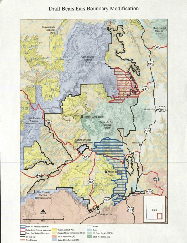 Maps: Boundary modifications for Bears Ears and Grand Staircase ...