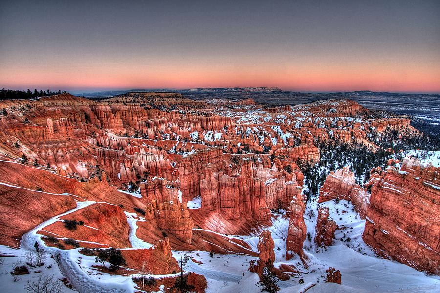 Snow in Bryce Canyon National Park, UT