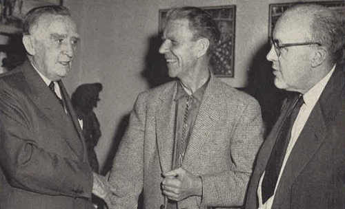 Howard Zahniser with Olaus J. Murie and then-Sen. Joseph O'Mahoney, of Wyoming