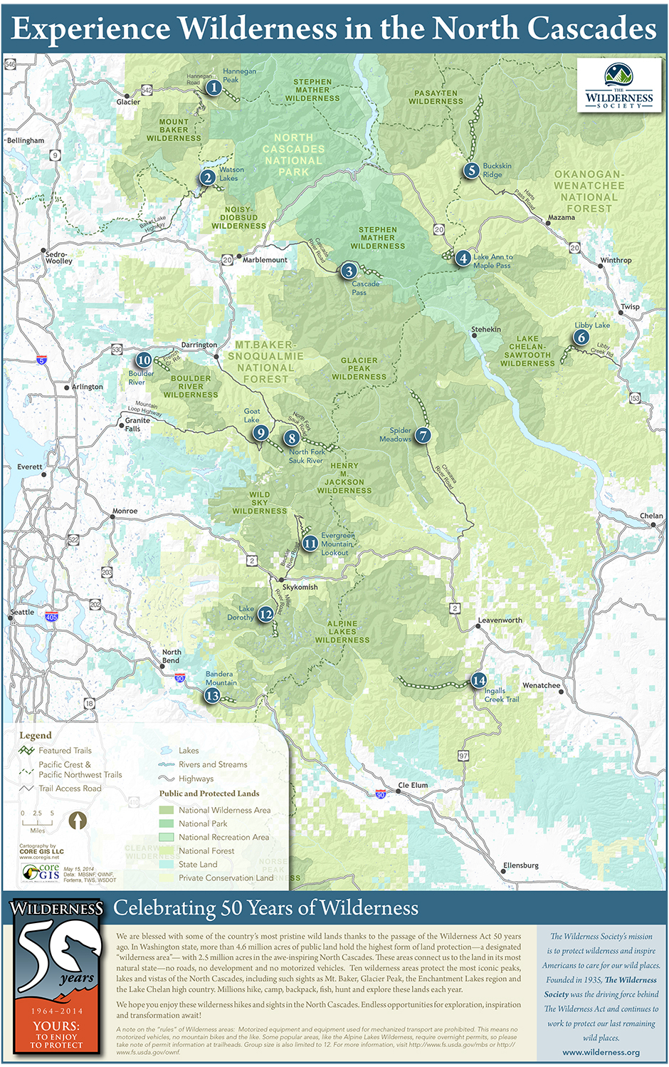 North Cascades Wilderness Map | The Wilderness Society on