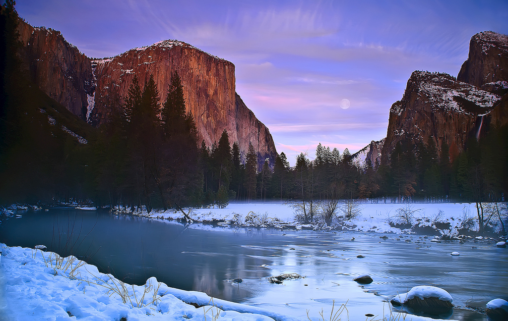 Winter in Yosemite National Park, CA