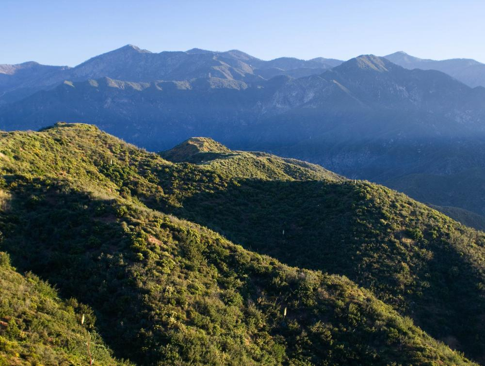 San Gabriel Mountains, California.