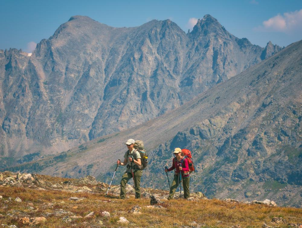 People hiking in Indian Peaks Wilderness, Colorado.