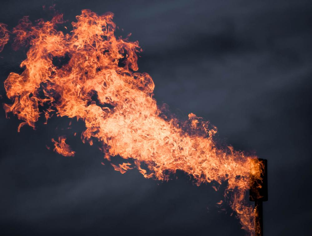 Methane Flare in Pawnee National Grassland, Colorado