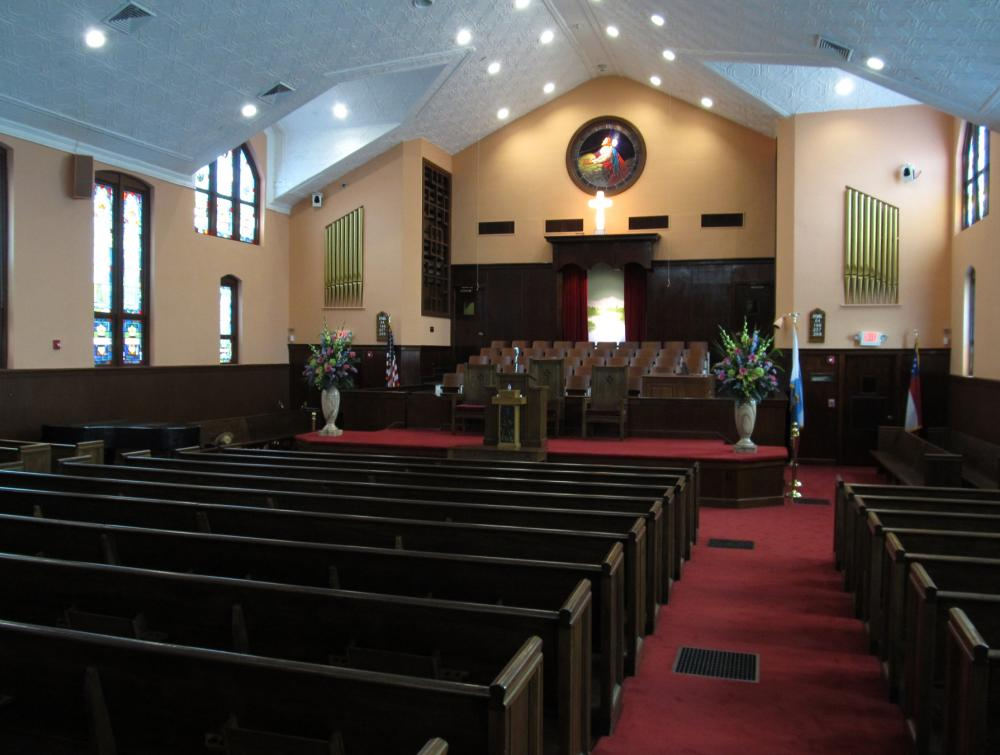 Ebenezer Baptist Church, part of the Martin Luther King, Jr. National Historical Park complex in Georgia