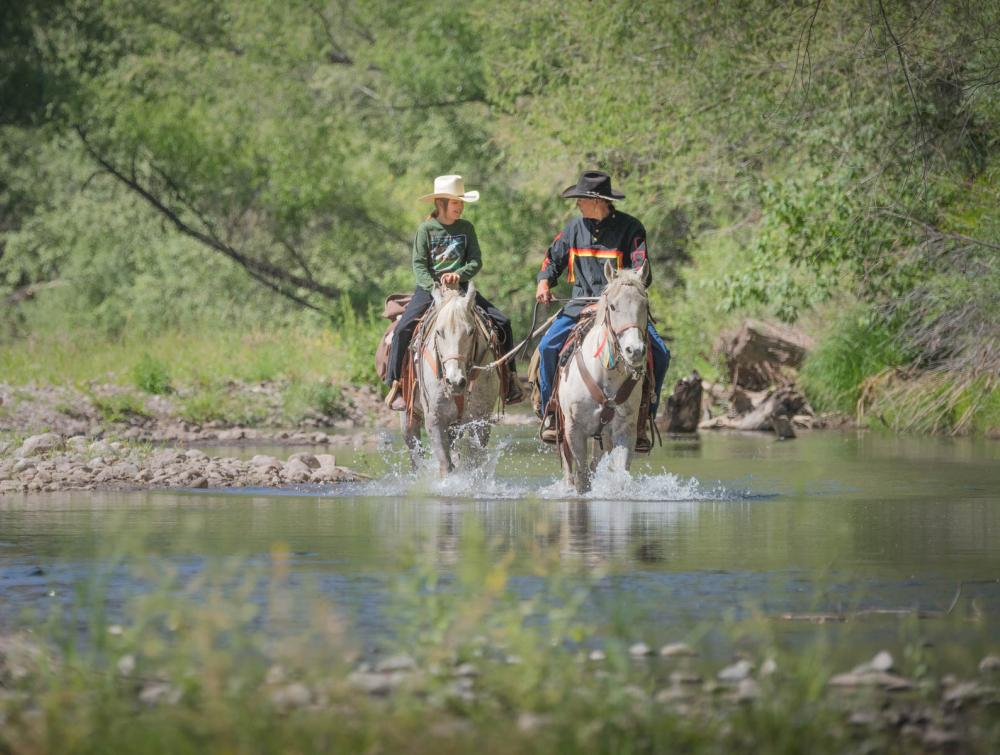 Horseback riders in Gila National Forest, New Mexico.