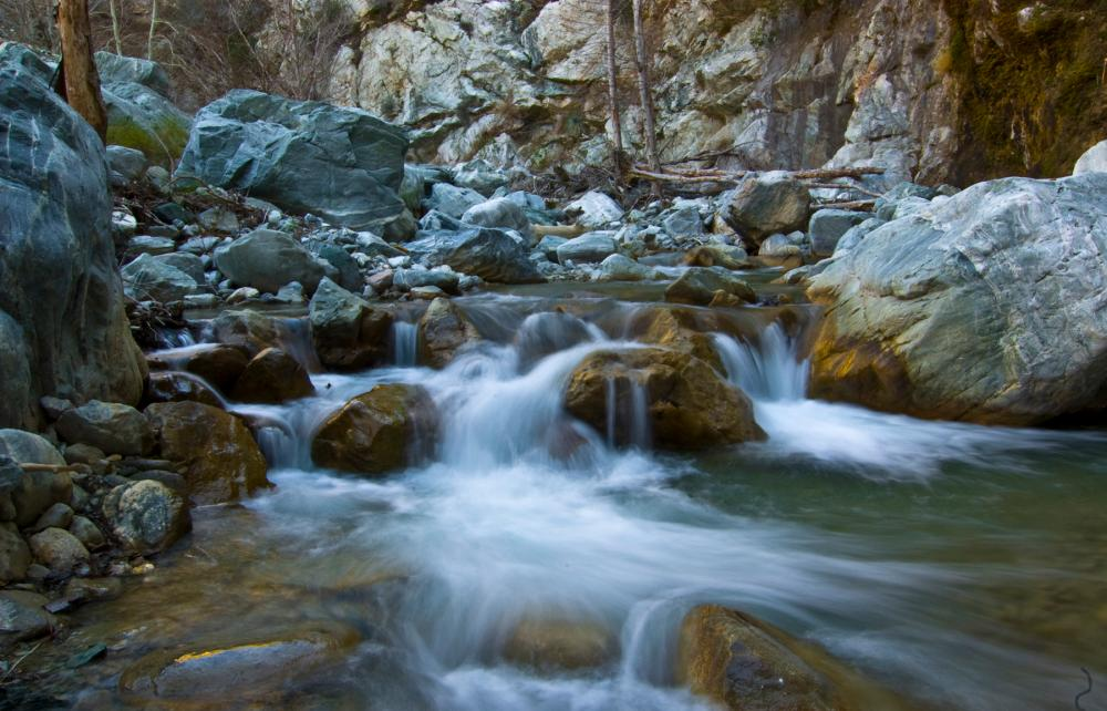 A creek in Sheep Mountain Wilderness within the San Gabriel Mountains, California