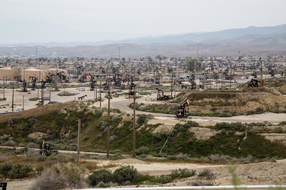 Oil and gas development on BLM lands around Bakersfield, CA