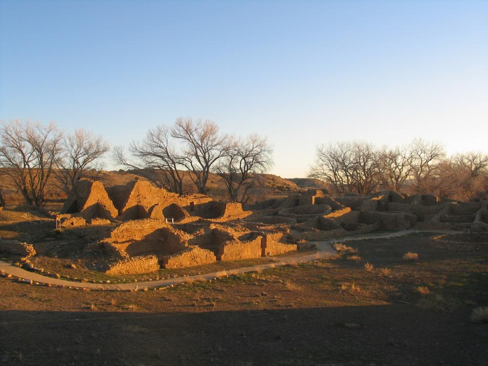 A trail through Aztec Ruins National Monument, New Mexico