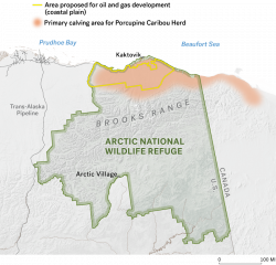 Arctic oil and gas development map
